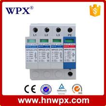 Mini UC 220V, 230V, 240V, 320V, 350V, 380V, Imax 20kA, 40kA,80kA,120kA,160kA surge protector 3 phase