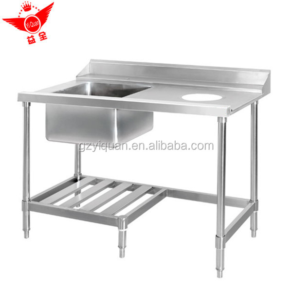 Multi-purpose Stainless Steel Work Table With Kitchen Sink