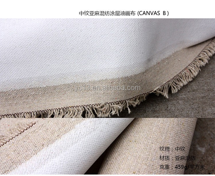 linen blank wholesale stretched canvas for painting with customized size