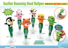 suction bouncing head ballpen with funny bee bee sound