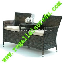 sell RLF-CH-003 outdoor garden furniture patio wicker synthetic rattan double chair furniture