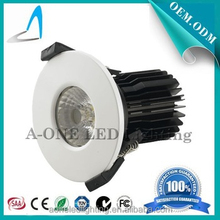 10W COB LED fire rated Downlight round shape white trim-dimmable fire rated led down light led drive 5 years warranty