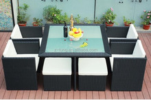 aluminum rattan wicker chair and tableZT-1134CT