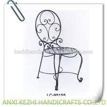 Antigua silla de comedor de hierro forjado