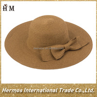 Latest design factory wholesale fashion women ladies beach japanese straw hat to decorate