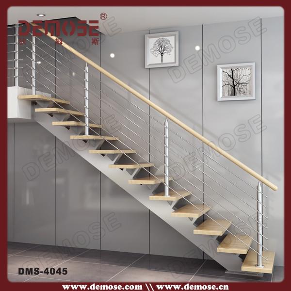 single stringer staircase single stringer stair inox indoor stair