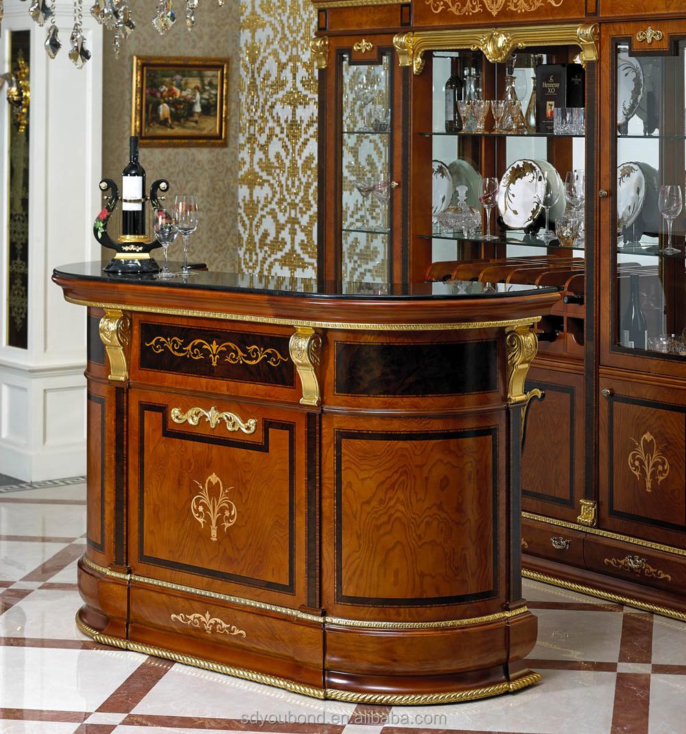 0038 antico soggiorno set di mobili bar, casa di lusso classico ...