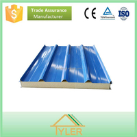 corrugated insulated pu sandwich panel for prefabricated houses
