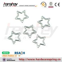 Silver star forme belle métal printemps papier clips