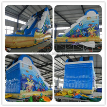 HTH cheap giant inflatable water slide for sale