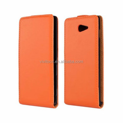 China manufacture pu leather flip case cover for sony xperia m2