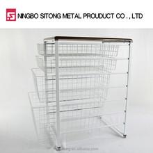 Multi-purpose Metal Wire Mesh Basket Drawer