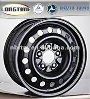 Cheap custom 17-inch 5 stud 5X114.3 flat black steel wheel