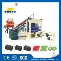 Concrete block making machine for sale QT4-15C libya construction projects