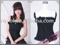Boned Corset Gothic Lolita Punk clothing 21046BK from RQ-BL