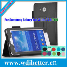 Newest PU Leather Case For Samsung Galaxy Tab 3 Lite T110 Stand Case Cover For Samsung Galaxy T110 7Inch Tablet PC Case