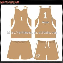 cheap 2015 new european sublimation college youth basketball wear design