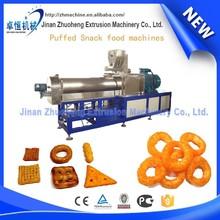 Automatic puffed grain/corn snacks production machine