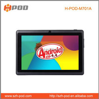 welcome to see h-pod supplier tablet pc q88 hot sell dual core 2800mah battery 512mb ddr 4gb memory