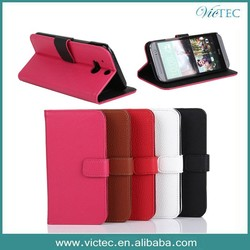 Luxury PU Leather Case For HTC One M8 Flip Card Stand Cases For HTC One M8