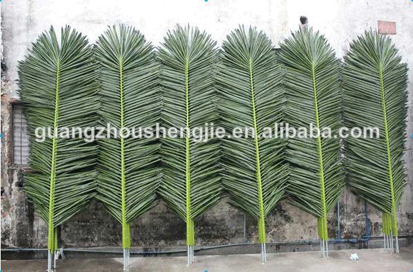 Q100703 Plastic Palm Leaves High Quality Artificial Palm
