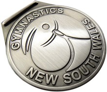 Antique silver finish cheap metal medal custom design