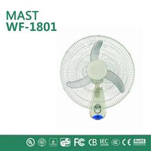 low noisy plastic small fan/wall mounted industrial exhaust wall fan/16 inch led cooling stand installation bladeless wall fan