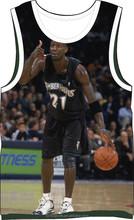 hot sales custom design sublimation printed basketball star pattern men's tank top