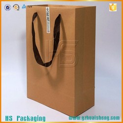 Customized luxury Recycled kraft paper bag/strong brown paper bag/craft paper bag