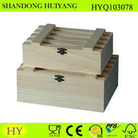 unfinished wood crate box set, wood crate