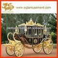 مدرب الحصان الذهبي الفاخر الملكي الكلاسيكي/ نقل الزفاف
