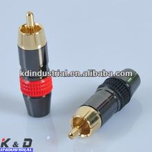 RCA Interconnect Male Locking AudioSolder RCA Plug Audio Grade Connector RCA Male Female Terminal Connector Jack Plug