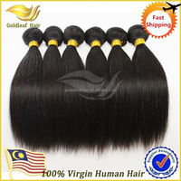 Factory November 11. 11th promotion unprocessed 7a grade hot sale malaysian straight human hair weaving