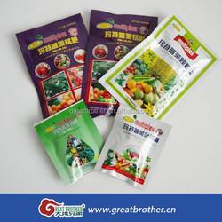 Manufacturer of seed plastic bag/custom design heat sealed plastic packaging bag