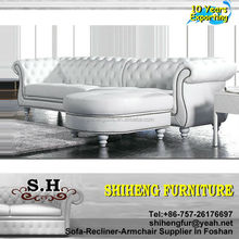 Antique Sofa Home Use Genuine Leather Chesterfield Sofa set A953