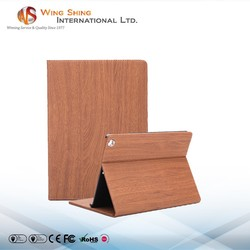 For 2015 wood pattern stand stylish ipad 2 case
