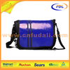 fasion colorful 600D polyester messenger bag with shiny flap for promotion
