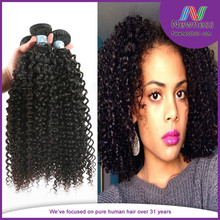Double Strong Wefts No Chemical Processed Virgin Mongolian Kinky Curly Hair