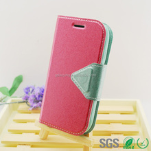 for samsung s3 mini pu+tpu cell phone case with wallet function