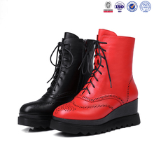 Latest women dressy leather horse riding boots laser upper dr martens shoes boots