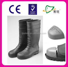 lightweight heavy duty man clear safety PVC rain boots with CE steel toe