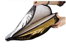 5-in -1 60cm,23 inch Gold/Silver round reflector board flash