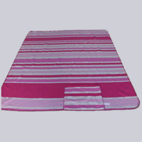 China Factories Two Side Brushed Travel Throw, Printed Stripes Polar Fleece Moving Blanket with Case