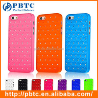 Set Screen Protector Stylus And Case For Iphone 5 , Hard Plastic Bling Diamond Case For Iphone5