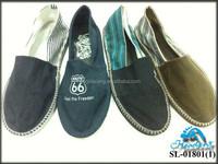 Men Two Tone Espadrilles Flat Canvas Shoes