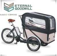 2015 popular CE certification three wheel electric cargo bike/ cargo tricycle / cargo trike front boxUB9036E