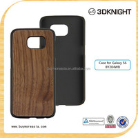 Wood Case for S6 Natural Wooden Cell Phone Accessories Customized Wood Bamboo Phone Case for Samsung Galaxy S6