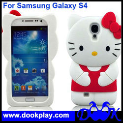 For Samsung Galaxy S4 3D Hello Kitty KT Silicon Case