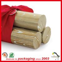Wine wooden box original kraft color paper tube wine packaging single wine cardboard tube