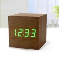 LED Digital Table Clock Home Decor Wooden Clock Popular Gift Design
